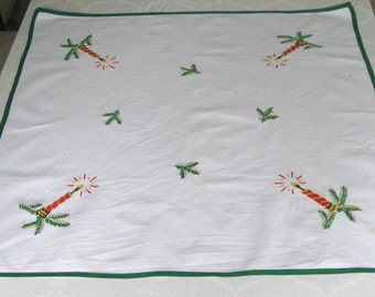 german xmas tablecloth . advent tablecloth .  Christmas Tablecloth . Advent Table Topper . linen xmas . german xmas