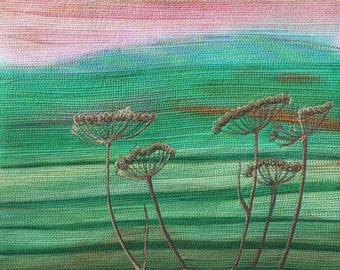 Embroidered Textile Art -Summer's Ending Il
