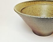 Bowl, wood and soda fired porcelain