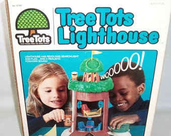 Vintage Kenner Family Tree Tots Lighthouse in original box