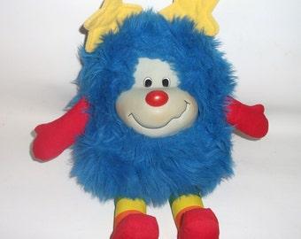 Vintage Rainbow Brite Champ Blue Sprite Doll 1983