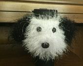 Crochet // Shihtzu // Shih Tzu // Dog // Coffee Cozy // Water Bottle Cozy // Handmade