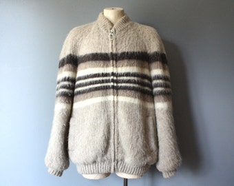 vintage hilda  jacket / icelandic wool coat / menswear / M