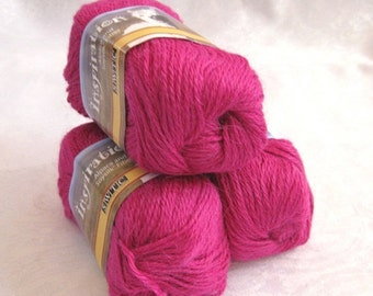 50% off - Pink Alpaca blend yarn, worsted weight,  SWTC Inspiration, Laughter (387)