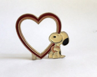Vintage Snoopy Heart Frame