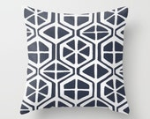 Navy Pillow cover Modern Pillow Cover Decorative Pillow Cover Couch Pillows Size Choice Accent Pillow