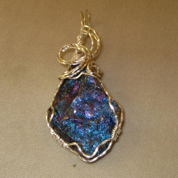 Chalcopyrite NecklaceCrystal/Mineral NecklaceBlue