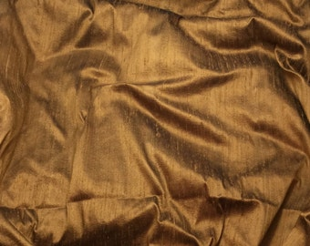 COPPER Silk DUPIONI Fabric - fat 1/4