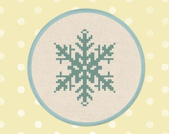 Falling. Winter Snowflake Cross Stitch PDF Pattern