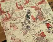Vintage children illustration - book reclamation - collage ephemera - found papers - CHILDHOOD ADVENTURES