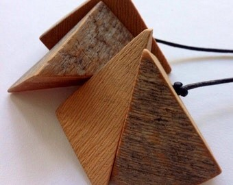 Recycled King Billy Pine Australian Wood Necklace Fractal by Mainichi