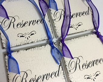 Wedding Signs, RESERVED Signs, Set of 4, Reserved Seating Signs, 5 x 5