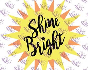 Shine Bright sun SVG