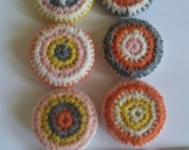 Sweater Buttons, Set of 6 Knit Buttons, Covered Buttons