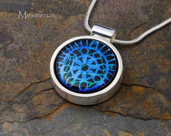Fused Glass Pendant by BluDragonfly SRA - Mesmerize
