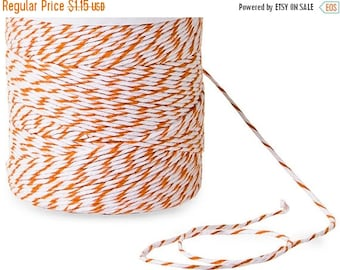 Summer Stock Up Sale 10 Yards Eco Friendly Orange and White Divine Twine