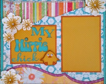 My Hippy Chick Two 12x12 Premade Scrapbook Pages