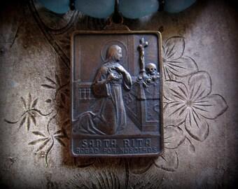 St. Rita and Ecce Homo Necklace