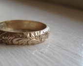 SAVE 14 PERCENT NOW Rustic 14k Gold fill Renaissance Wedding Ring