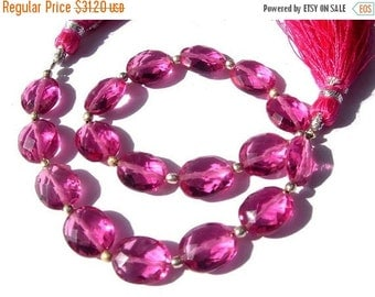 55% OFF SALE 1/2 Strand Finest Quality AAA Hot Pink Quartz Faceted Oval Briolettes Size 10x8mm approx
