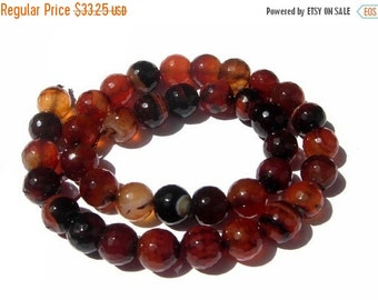 55% OFF SALE 14 Inches - Finest Quality Natural Coffee Brown Agate Faceted Round Beads, Size 14x14mm approx