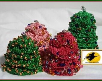 Miniature Doll House Fairy Garden Habitat Christmas Tree Crochet Pattern