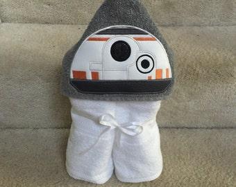 BB8 hooded towel robot hooded towel