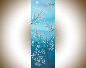 "Modern Wall Art Birds on tree branch Acrylic painting wall art wall décor decorative art Impasto home Office Wall Hangings ""Serenity"""