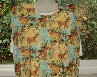 adult bibs - clothing protectors - adult bib - holiday deer