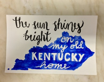 The Sun Shines Bright on My Old Kentucky Home watercolor painting