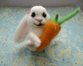 Felted Bunny with Carrot