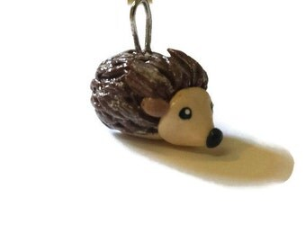 Hedgehog Pendant, Polymer Clay Jewelry, Perfect for a Necklace, Animals
