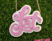 Fat Necklace in pastel plum