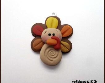 Polymer Turkey Charm Pendant
