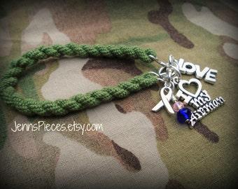 BRACELET: I Love my Airman boot band blouser bracelet SSG80 Army navy air force Marines National Guard usmc usaf usn sailor military arng