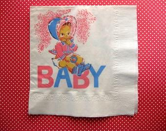 Sweet Vintage Baby Paper Napkin (1)