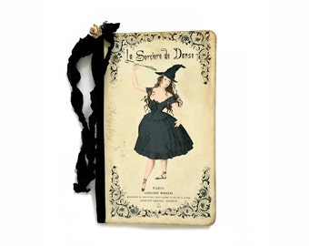 Halloween Witch Journal, Paris Witch, Fun Spoof Journal, Pretty Witch Notebook, Dancing Witch Journal, Halloween Party Guest Book, sorciere