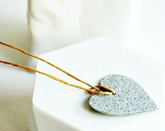 Glitter Heart Tags | Silver Heart Tags | Silver Glitter Tags | Heart Tags | Love Heart Tags | Valentine Heart Tags | Wedding Favors
