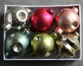 Mercury Glass Garland Ornaments - Large Indented Vintage Style Christmas Beads -  Faceted Holiday Glass Bead Decorations