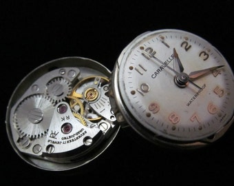 Vintage Antique Small Caravelle Watch Movements with Dials Faces Steampunk  TM 88