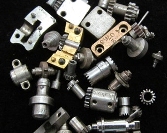 Destash Vial Watch Parts Assemblage Industrial Altered Art Steampunk Charms IV 54