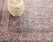 Large Woven Wool Area Rug - 10.5 feet x 9 feet