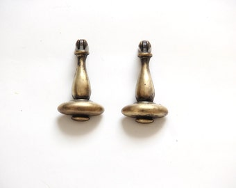 Heavy Brass Tassle Togle Mid Century Drawer Handle Pulls Hardware (Set of 2)