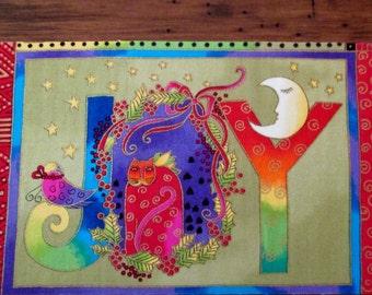"Joy Cats Iron On Fabric Applique 7"""