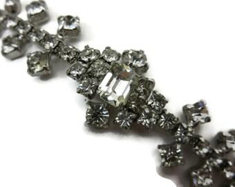 Rhinestone Bracelet - 1950s Costume Jewelry Bridal