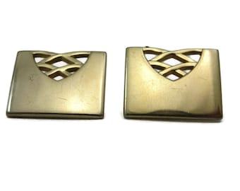 Swank Cufflinks - Mid Century Modern, Gold, Vintage Mens Accessories, 1960s