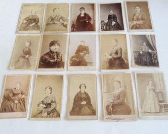 Vintage Cabinet Card Lot of Women