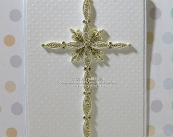 Paper Quilled Cross Card