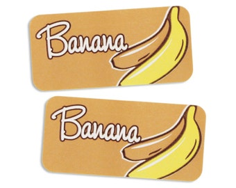 Banana Bakery Labels - stickers for packaging cookies, cake, treats, and baked goods