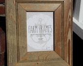 5 x 7 TAN old vintage wood picture frame